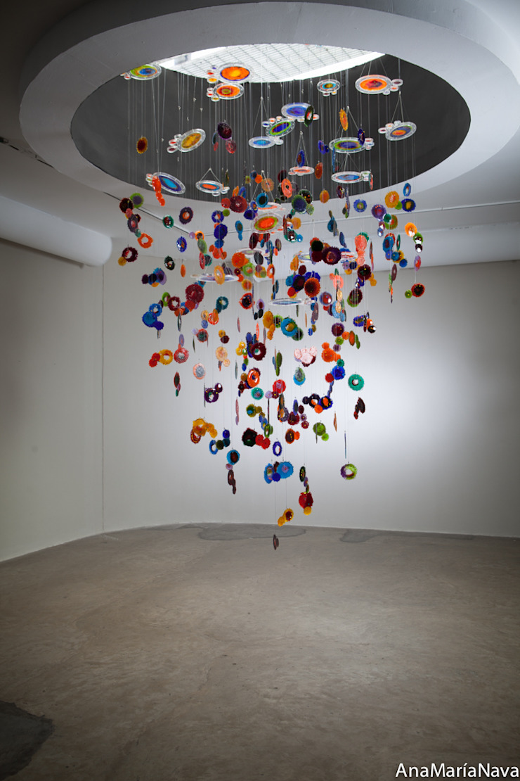 Ana Maria Nava Glass minimalist style media rooms