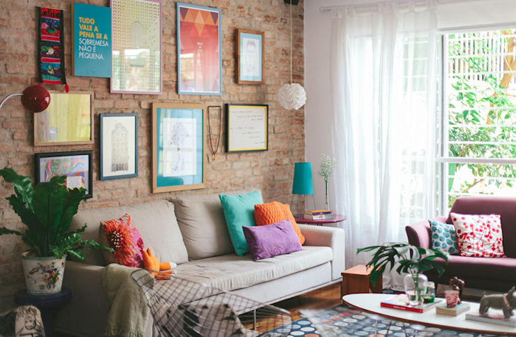 Living room by Koulè Design Afetivo, Eclectic