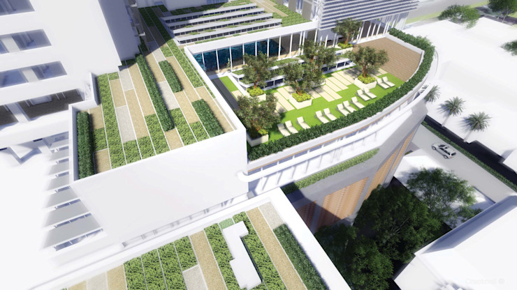 Green roofs by AR Architecture Modern