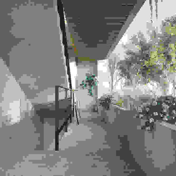 industrial style corridor, hallway & stairs. by Taller Veinte Industrial