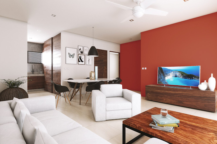 Modern living room by Taller Veinte Modern