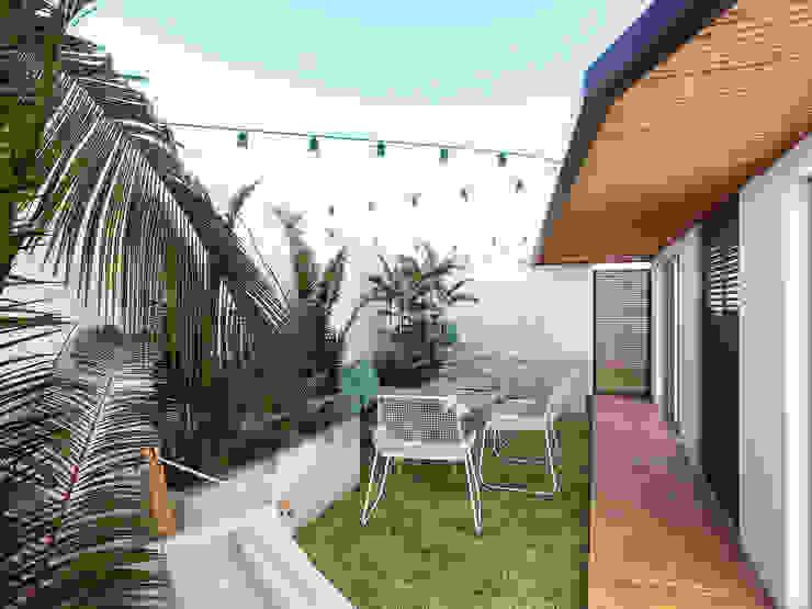 Tropical style balcony, veranda & terrace by Taller Veinte Tropical