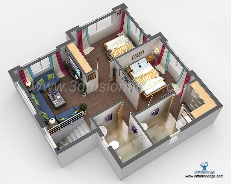 3d floor plan de 3DFUSIONEDGE