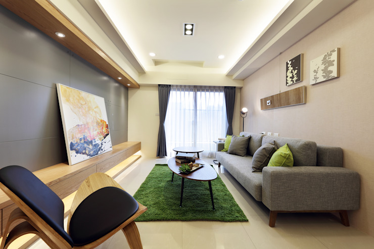 客廳 Modern Living Room by 見本設計 Modern