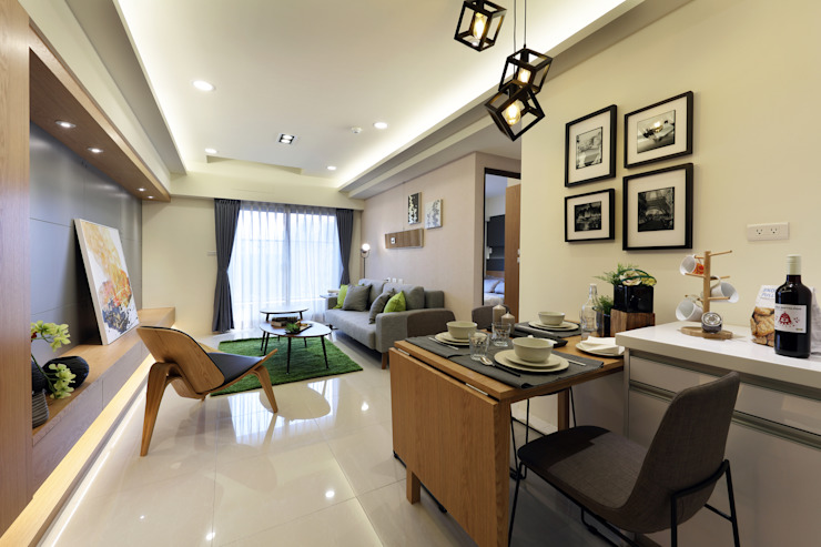 餐廳 Modern Dining Room by 見本設計 Modern