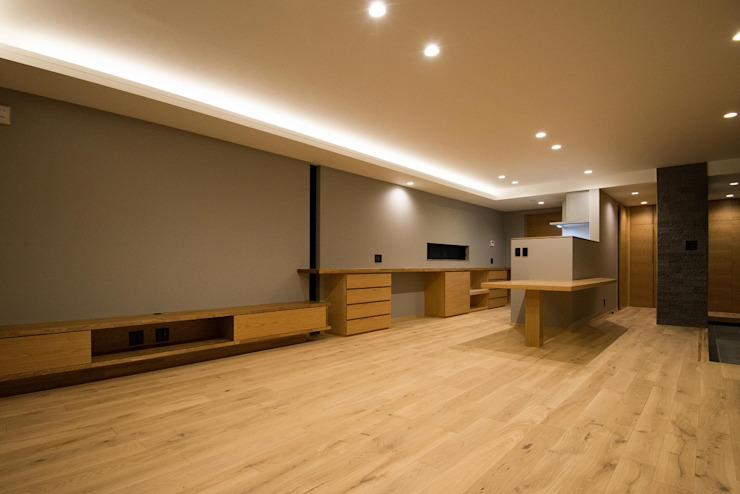 Modern living room by TKD-ARCHITECT Modern Wood Wood effect
