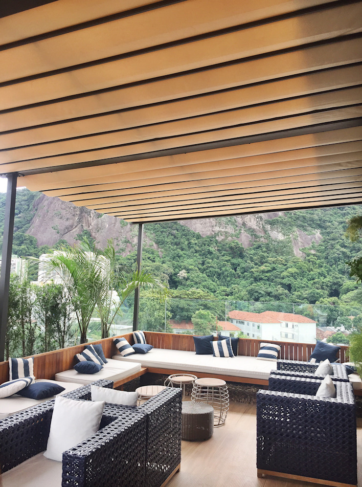 TRIDI arquitetura Balcon, Veranda & Terrasse modernes