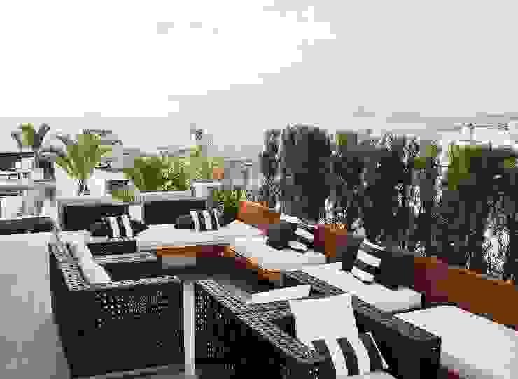 Cobertura | Hotel Royal Rio Palace Varandas, alpendres e terraços modernos por TRIDI arquitetura Moderno