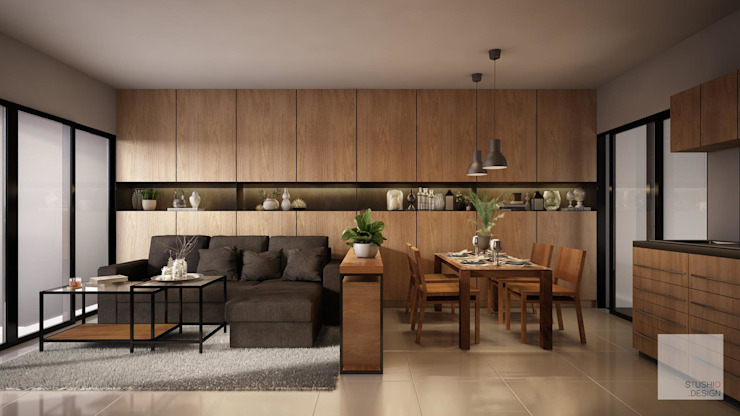 Living Room โดย Stushio Design