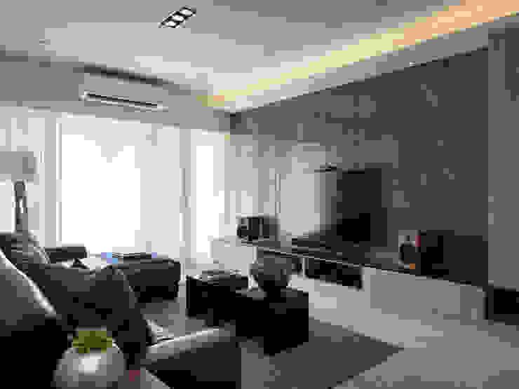 平鎮一號_方宅 现代客厅設計點子、靈感 & 圖片 根據 貝爾設計B.R studio 現代風