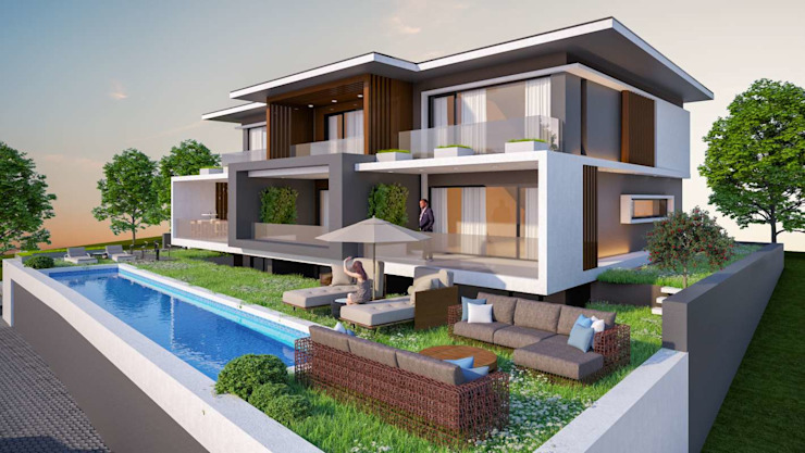 Ayvalık Villa Modern Evler VERO CONCEPT MİMARLIK Modern