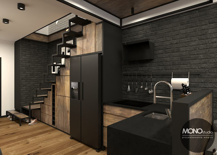 Industrial style kitchen by MONOstudio Industrial
