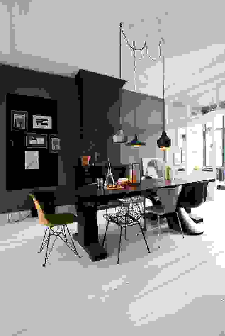 에클레틱 다이닝 룸 by FORM MAKERS interior - concept - design 에클레틱 (Eclectic) 석회암