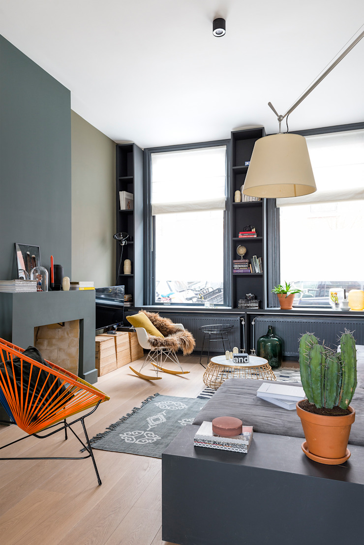 Woonkamer Eclectische woonkamers van FORM MAKERS interior - concept - design Eclectisch Kalksteen