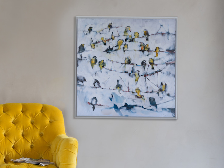 Little Yellow Birds canvas print Murs & Sols modernes par Loaf Moderne