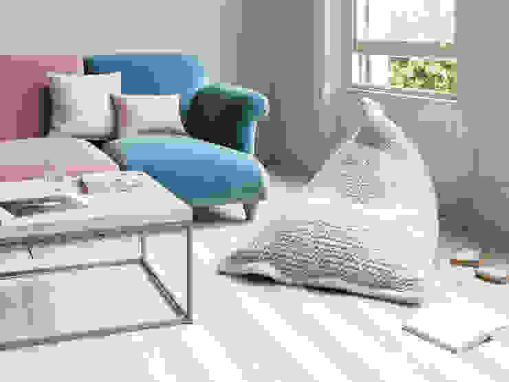 Chocs bean bag in Cream Modern Living Room by Loaf Modern