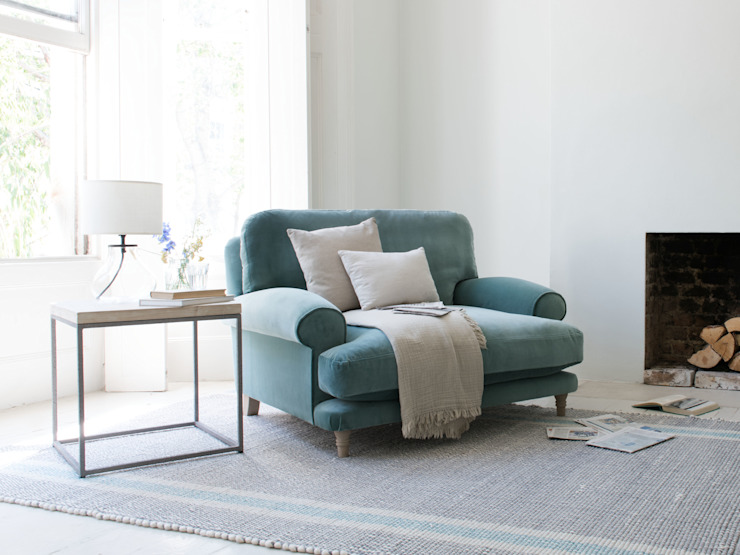 Slowcoach love seat Modern living room by Loaf Modern
