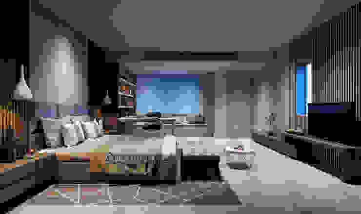 BIỆT THỰ SONG LẬP Q12 Phòng ngủ phong cách hiện đại bởi REAL HOME VN Hiện đại