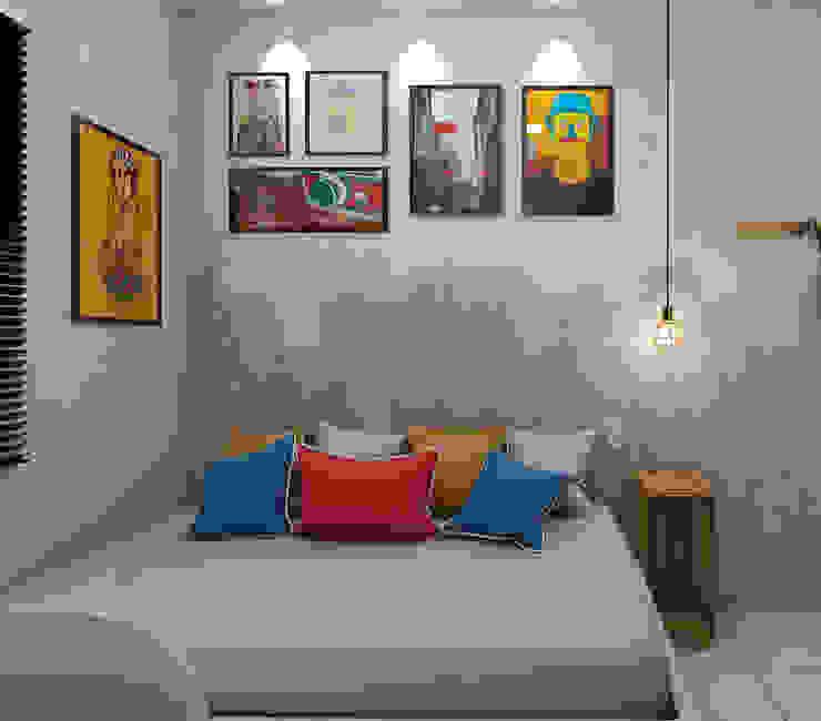 Quarto para um jovem adulto Quartos industriais por Jéssika Martins Design de Interiores Industrial