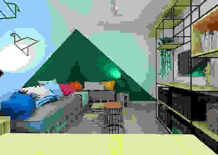 Salas / recibidores de estilo  por Jéssika Martins Design de Interiores, Industrial
