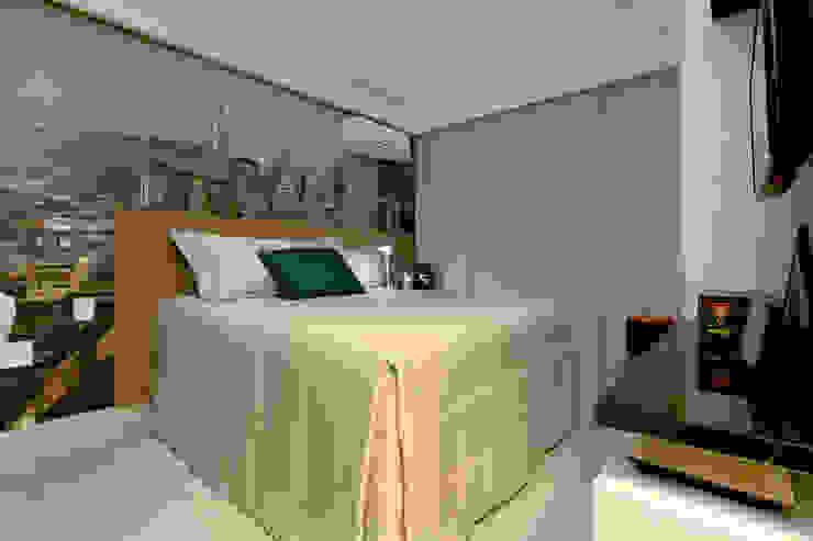 Quarto masculino Danielle Valente Arquitetura e Interiores Quartos modernos