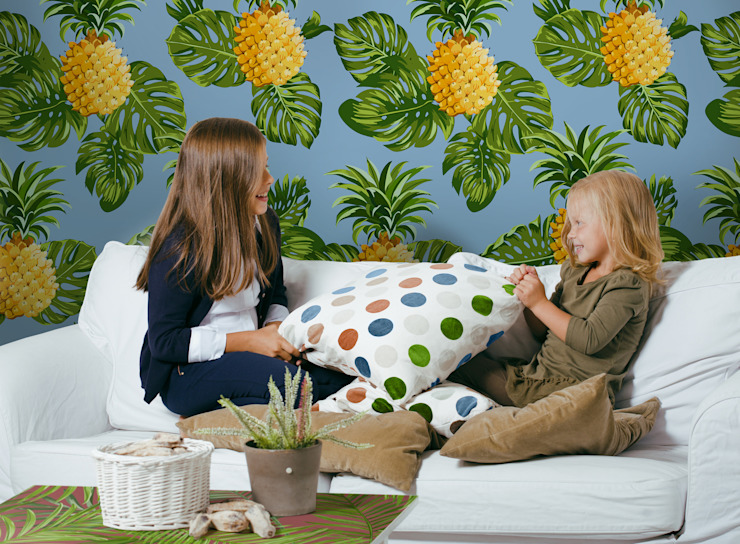 PINEAPPLE SMILES Pixers Living room Multicolored