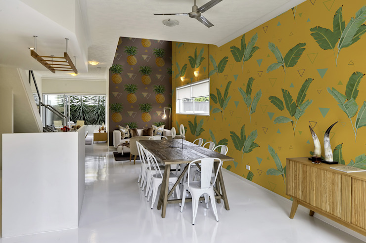 ACCENTS OF THE TROPICS Pixers Tropical style dining room Yellow