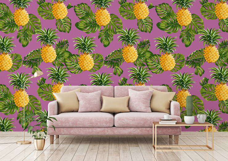 HYPNOTIC PINEAPPLES Pixers Living room Pink