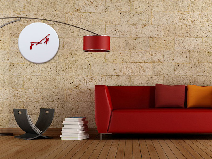 Progetti Time To Play Wall Clock: modern  by Just For Clocks,Modern Wood Wood effect