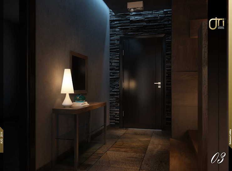 Pasillos y vestíbulos de estilo  por Ori - Architects, Moderno