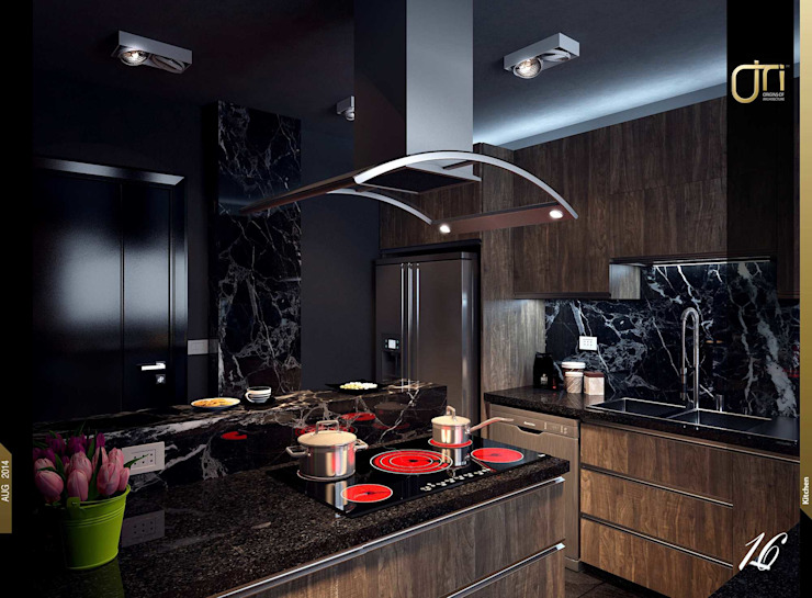 La Terra Residence 現代廚房設計點子、靈感&圖片 根據 Ori - Architects 現代風