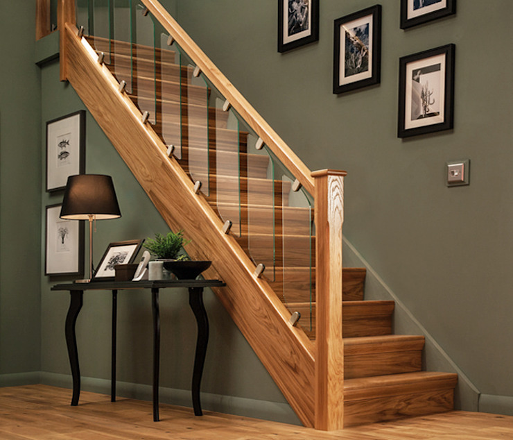 Elements Stairs with Glass de Wonkee Donkee Richard Burbidge Moderno Vidrio