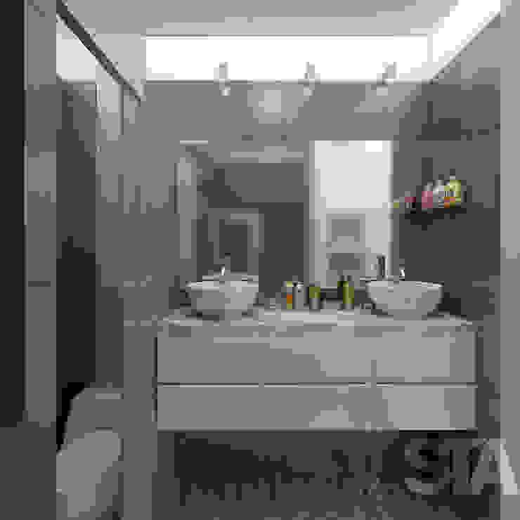 Baño Principal Modern Bathroom by Soluciones Técnicas y de Arquitectura Modern