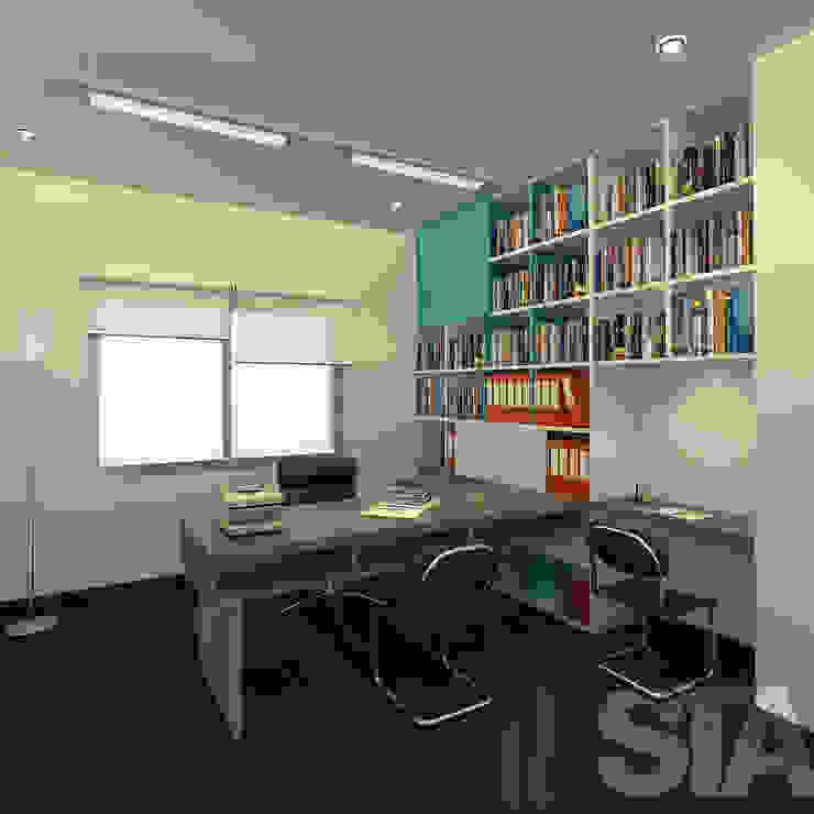 Escritorio Modern Study Room and Home Office by Soluciones Técnicas y de Arquitectura Modern