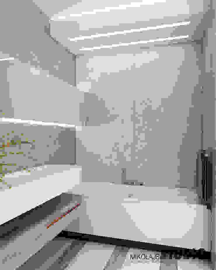 Salle de bain originale par MIKOŁAJSKAstudio Éclectique