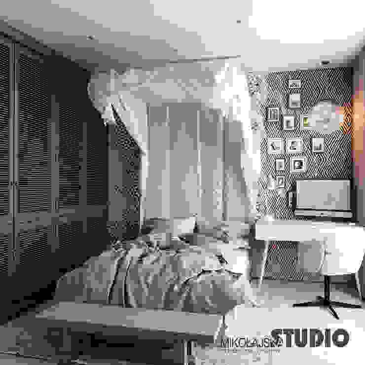 Chambre originale par MIKOŁAJSKAstudio Éclectique