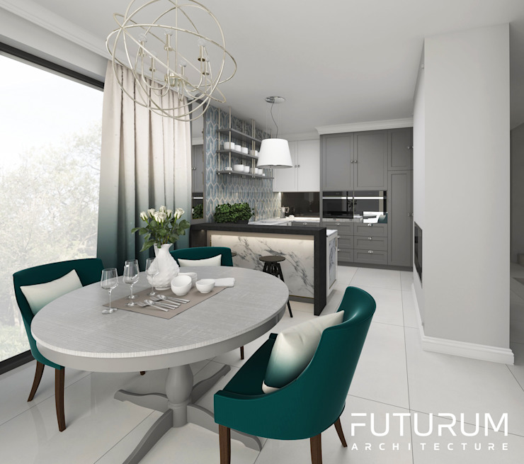 Dining room. by Futurum Architecture Classic