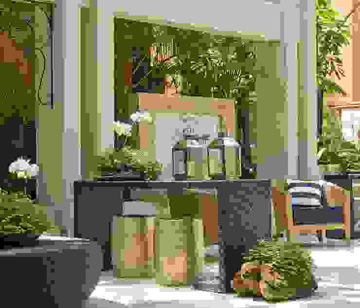 Interart Design de Interiores Modern balcony, veranda & terrace Stone Beige