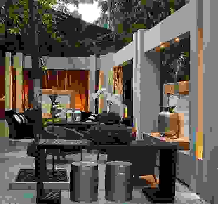 Interart Design de Interiores Modern conservatory Iron/Steel Beige