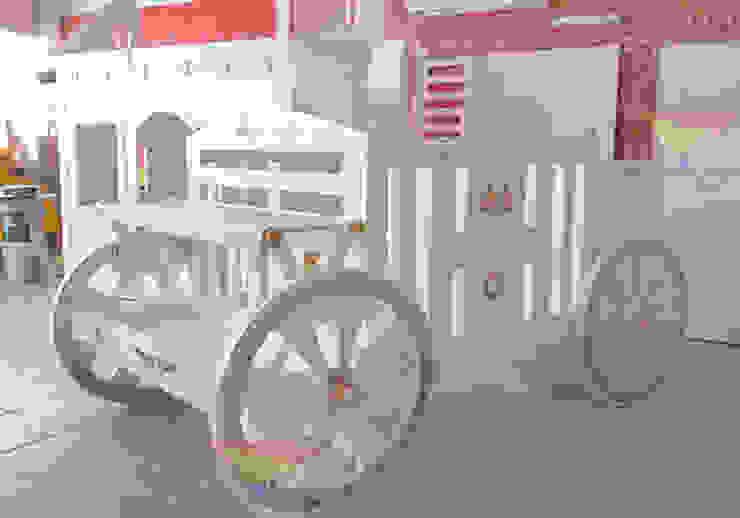 Preciosa cuna-carruaje de camas y literas infantiles kids world Clásico Derivados de madera Transparente