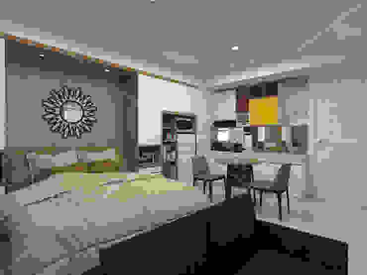 3D Apartment Trivium Terace, Cikarang Bekasi Oleh ARKON Minimalis