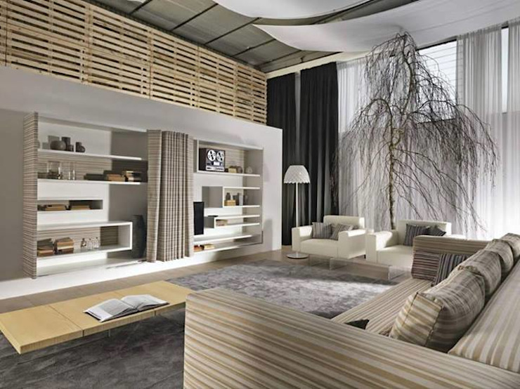 Modern living room by Spacio Collections Modern لکڑی Wood effect