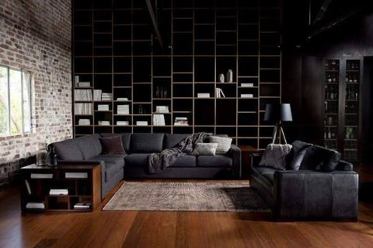 Wood on Black: modern  by Spacio Collections,Modern Textile Amber/Gold
