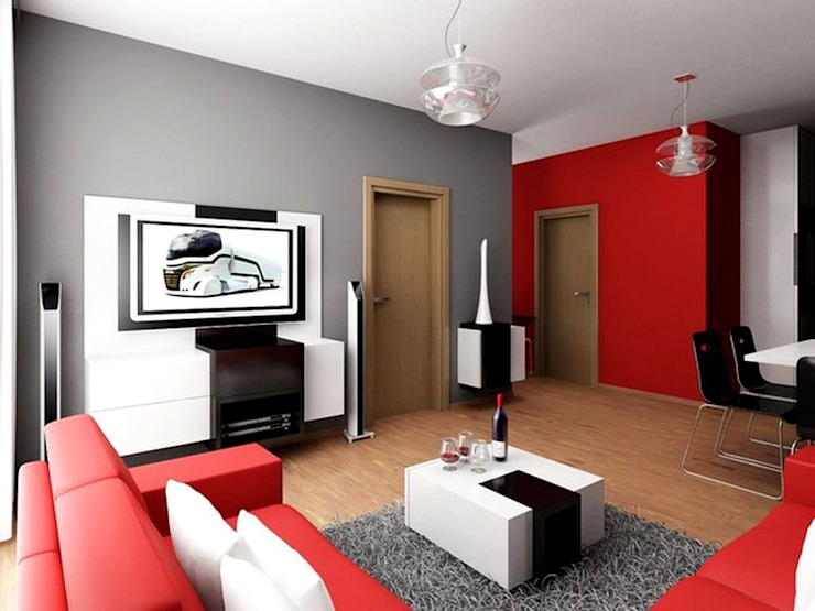 homify.co.id Walls Red