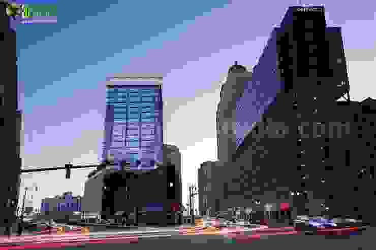 Night View Design Commercial Building Design Ideas San Diego USA: modern  by Yantram Architectural Design Studio, Modern