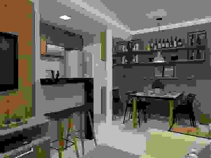 Ruang Keluarga Modern Oleh Bruna Ferraresi Modern