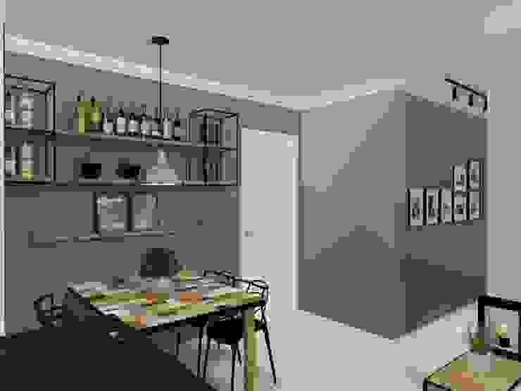 Apartamento Pequeno Salas de jantar modernas por Bruna Ferraresi Moderno