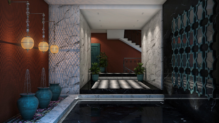 THE ARCH Rustic style corridor, hallway & stairs by ICONIC DESIGN STUDIO Rustic