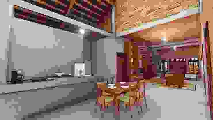 Kitchen by Pr+ Architect, Tropical