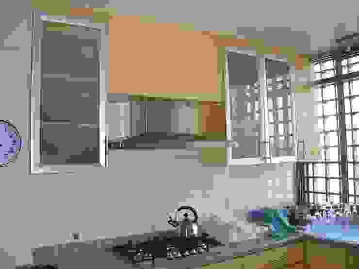 REMODELACION COCINA AMARILLA homify Cocinas equipadas Granito Amarillo